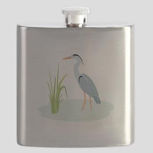 Blue Heron Flask