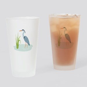 Blue Heron Drinking Glass