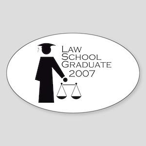 Law School Graduate 2007 Oval Sticker