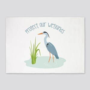 Protect Our Wetlands 5'x7'Area Rug