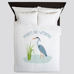 Protect Our Wetlands Queen Duvet