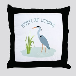 Protect Our Wetlands Throw Pillow