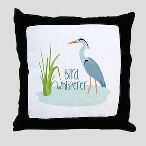 Bird Whisperer Throw Pillow