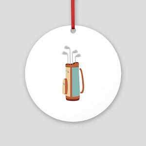 Golf Bag Ornament (Round)