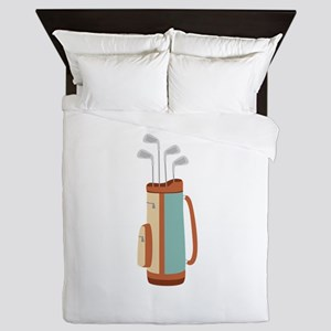 Golf Bag Queen Duvet