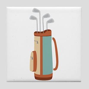Golf Bag Tile Coaster