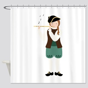 Scottish Piper Shower Curtain