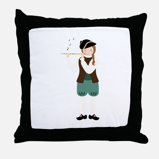 Scottish Piper Throw Pillow