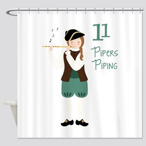 11 PiPeRS PiPiNG Shower Curtain