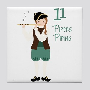 11 PiPeRS PiPiNG Tile Coaster