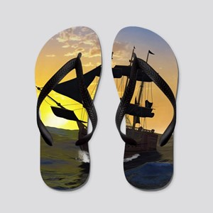 Pirate ship Flip Flops