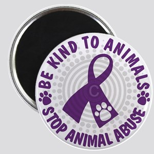 Purple Ribbon Be Kind to Animals Magnet