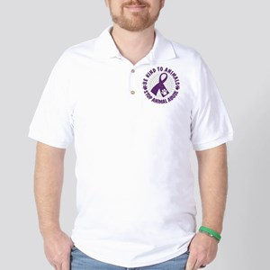 Purple Ribbon Be Kind to Animals Golf Shirt