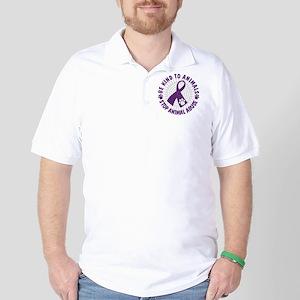 Purple Ribbon Be Kind to Animals Golf Shirt