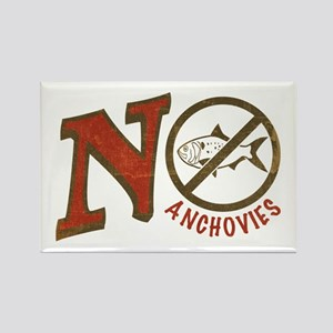 No Anchovies Rectangle Magnet