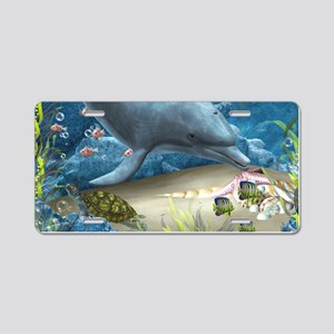 The World Of The Dolphin Aluminum License Plate