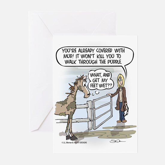 Puddle Shy Greeting Cards (Pk of 10)