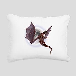 Red Dragon Rectangular Canvas Pillow
