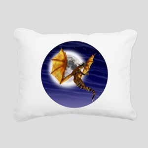 Golden Dragon Rectangular Canvas Pillow
