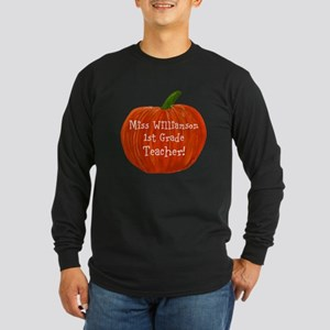 Personalised Halloween Te Long Sleeve Dark T-Shirt