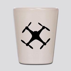 dji quadcopter sillhouette Shot Glass