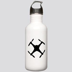 dji quadcopter sillhouette Sports Water Bottle