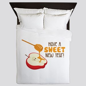 Have A SWEET New Year! Queen Duvet