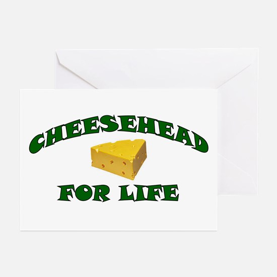Cheesehead For Life Greeting Cards (Pk of 10)