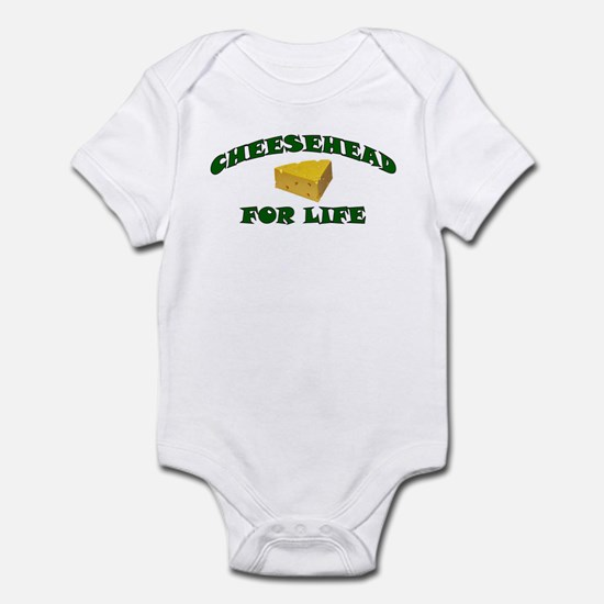 Cheesehead For Life Infant Bodysuit