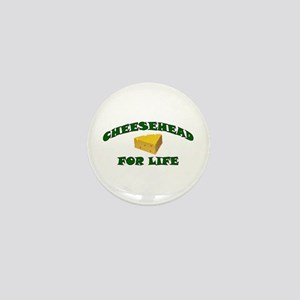 Cheesehead For Life Mini Button