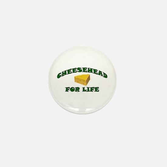 Cheesehead For Life Mini Button