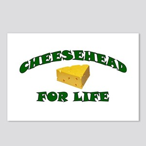 Cheesehead For Life Postcards (Package of 8)