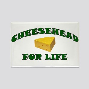 Cheesehead For Life Rectangle Magnet