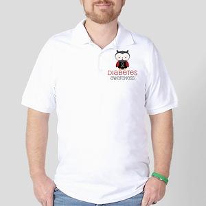 Diabetes Awareness Owl Golf Shirt