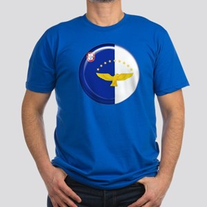 Azores islands flag Men's Fitted T-Shirt (dark)