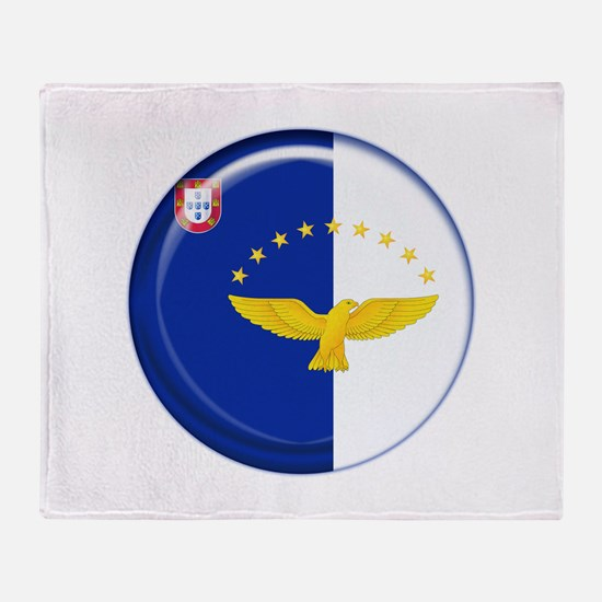 Azores islands flag Throw Blanket