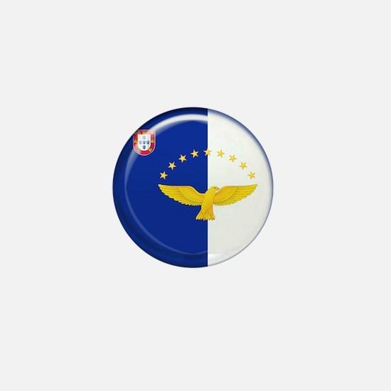 Azores islands flag Mini Button