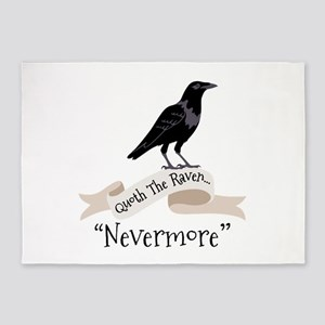 QUOTH THE RAVEN... NEVERMORE 5'x7'Area Rug