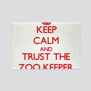 Keep Calm and Trust the Zoo Keeper Magnets