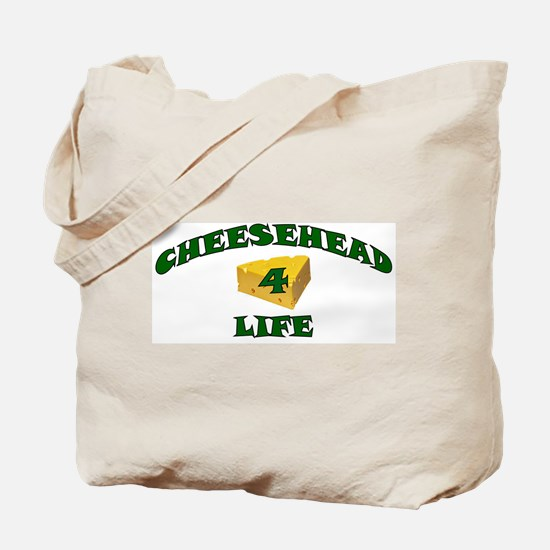 """Cheesehead """"4"""" Life Tote Bag"""