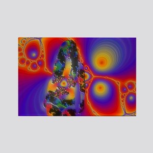 Sexy Fractal Lady Rectangle Magnet