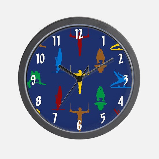 Mens Gymnastics Wall Clock