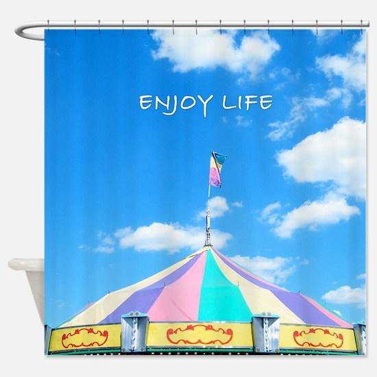 Circus Fair Tent Top Shower Curtain