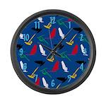 Windsurfing Large Wall Clock