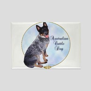 Cattle Dog Portrait Rectangle Magnet