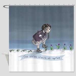 First Crocus Of Spring Shower Curtain