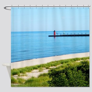 Lighthouse At South Haven Shower Curtain