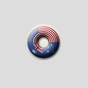 USA - Australia Mini Button