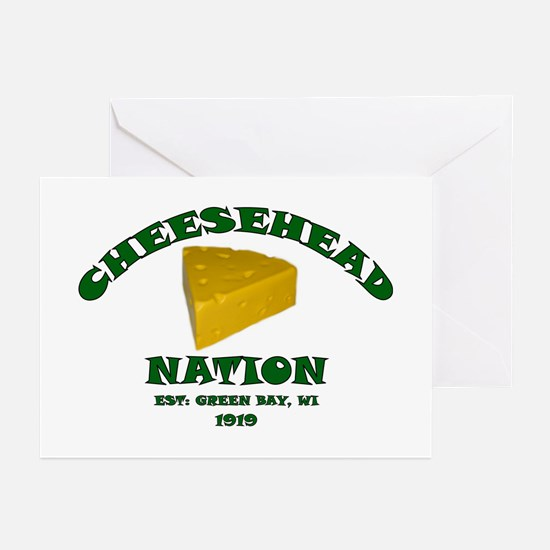 Cheesehead Nation Greeting Cards (Pk of 10)