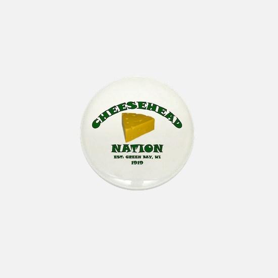 Cheesehead Nation Mini Button